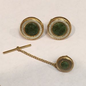 Vintage Accessories - VINTAGE Cuff Links and Tie Pin Set